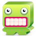 72x72px size png icon of monster green