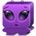72x72px size png icon of monster violet