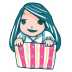 72x72px size png icon of Girl in a Box