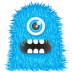 72x72px size png icon of Blue Monster