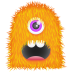72x72px size png icon of Orange Monster