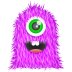 72x72px size png icon of Purple Monster