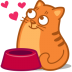 72x72px size png icon of cat food hearts