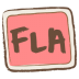 72x72px size png icon of fla