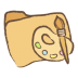 72x72px size png icon of folder art