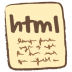 72x72px size png icon of html