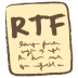 72x72px size png icon of rtf