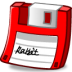 72x72px size png icon of floppy red
