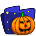 72x72px size png icon of folder halloween