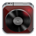 72x72px size png icon of music player dark wood