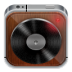 72x72px size png icon of music player wood