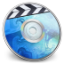 72x72px size png icon of iDVD BLUE Smoke