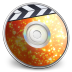 72x72px size png icon of iDVD Orange Soda