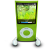 72x72px size png icon of iPodPhonesGreen