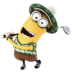 72x72px size png icon of Minion Playing Golf