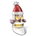 72x72px size png icon of Robot Santa