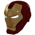 72x72px size png icon of Ironman Mask 1 Gold