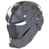 72x72px size png icon of Ironman Mask 2 Silver