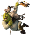 72x72px size png icon of Shrek and Donkey and Puss 2