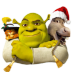 72x72px size png icon of Shrek and Donkey and Puss