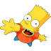 72x72px size png icon of Bart Simpson 05 Greeting