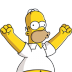 72x72px size png icon of Homer Simpson 04 Happy