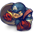 72x72px size png icon of Comics Captain America