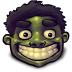 72x72px size png icon of Comics Hulk Happy