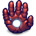 72x72px size png icon of Comics Ironman Hand