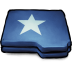 72x72px size png icon of Folder Blue Star