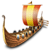 72x72px size png icon of viking ship