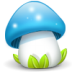 72x72px size png icon of mushroom blue