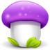 72x72px size png icon of mushroom purple