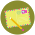 72x72px size png icon of Write Pencil Mail
