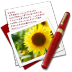72x72px size png icon of Diary Photo Sunflower