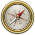 72x72px size png icon of Compass Gold