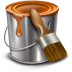 72x72px size png icon of paint bucket