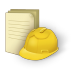 72x72px size png icon of document construction