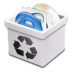 72x72px size png icon of trash milk full
