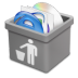 72x72px size png icon of grey trash full