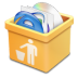 72x72px size png icon of yellow trash full