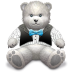 72x72px size png icon of Gift Light Grey bear