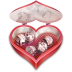 72x72px size png icon of Heart candies open