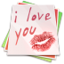 72x72px size png icon of Paper kiss
