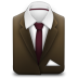 72x72px size png icon of Manager Suit Brown