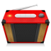 72x72px size png icon of Red Radio