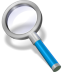 72x72px size png icon of search blue