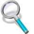 72x72px size png icon of search cyan