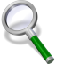 72x72px size png icon of search green dark