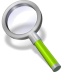72x72px size png icon of search green neon
